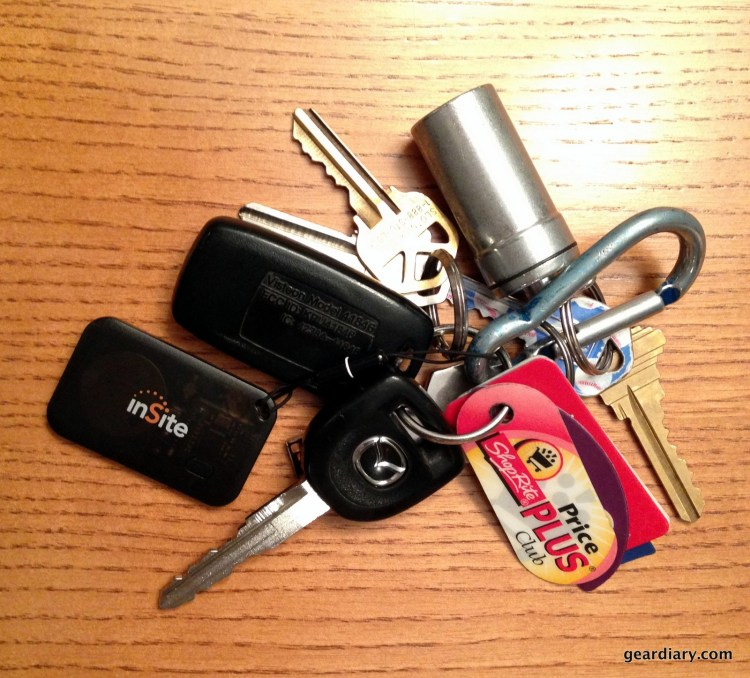 My keys with inSite attached.