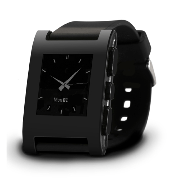 Pebble Watch - Color Series Matte Black 4