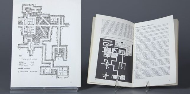 Pictured here: View of dungeon map from Dalluhn manuscript next to map from later, published edition of Dungeons & Dragons. (Image: The Strong)