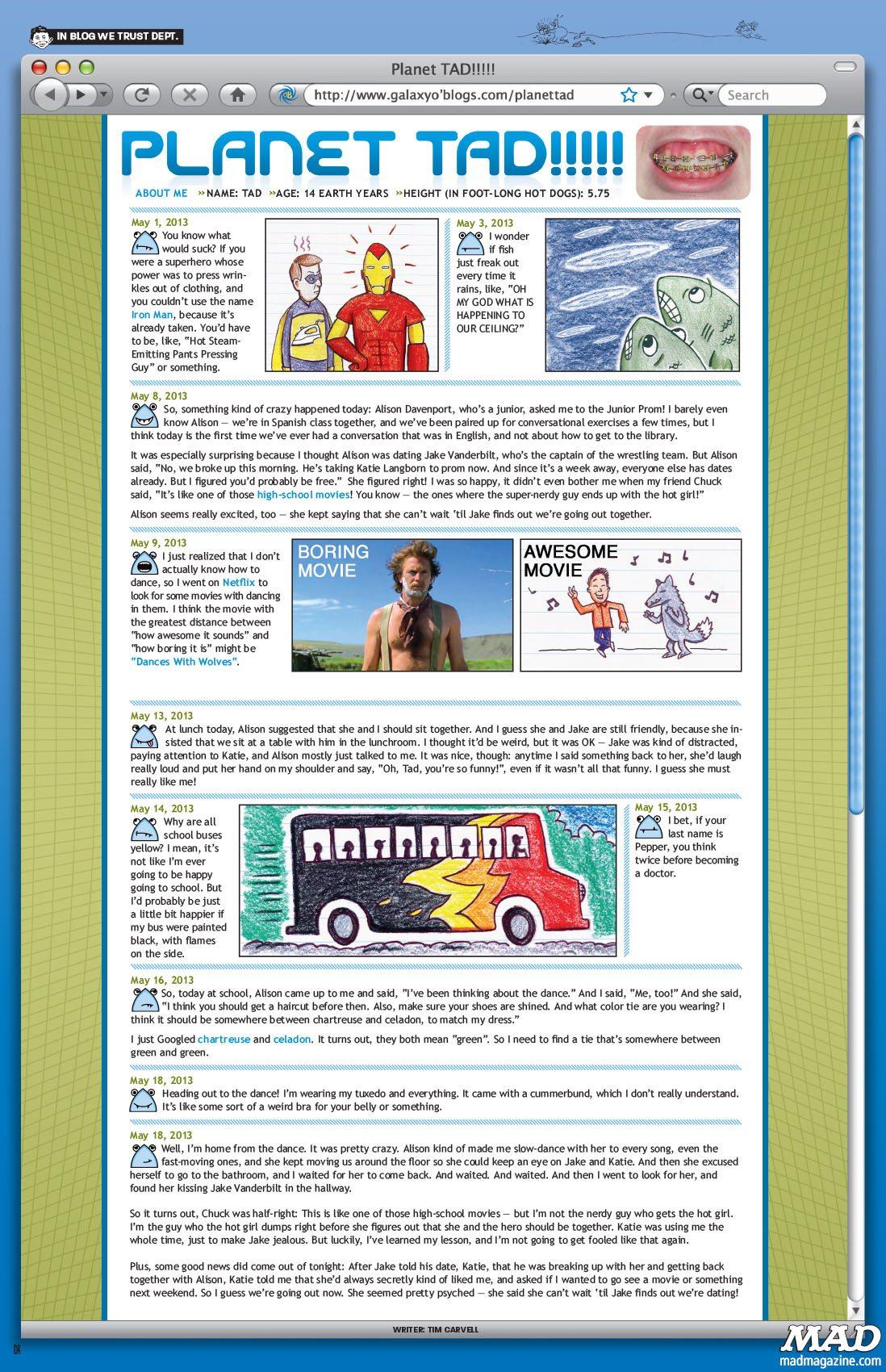 MAD Magazine 521 Planet Tad