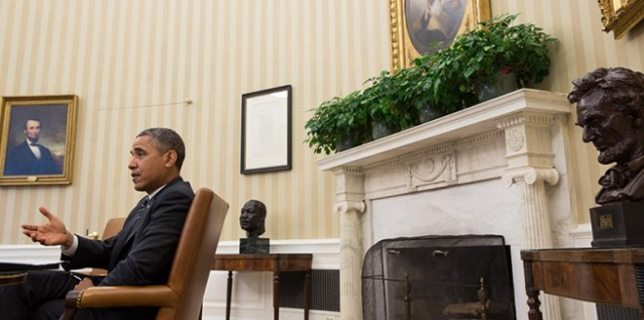 Obama in Oval Office