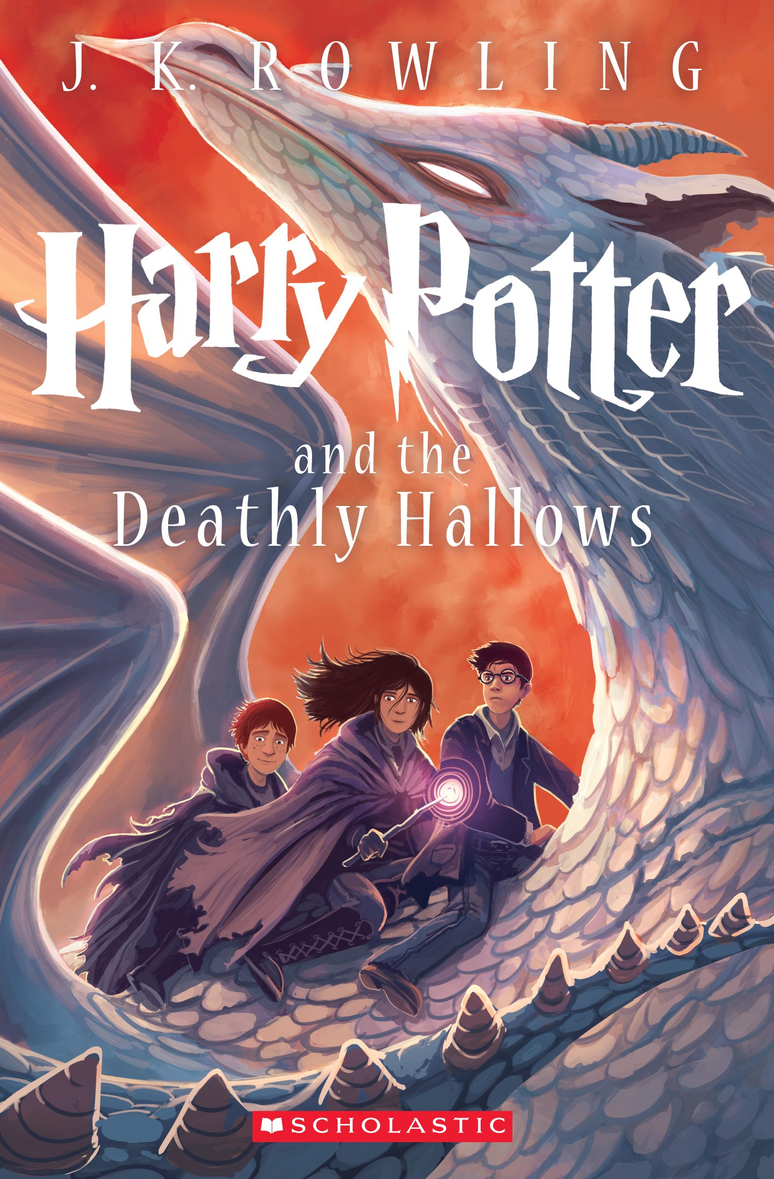 Harry Potter and the Deathly Hallows cover by Kazu Kibuishi