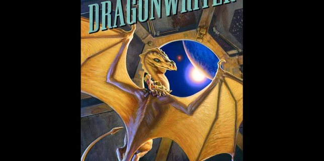 The cover to Dragonwriter, edited by Todd McCaffrey, art by Michael Whelan