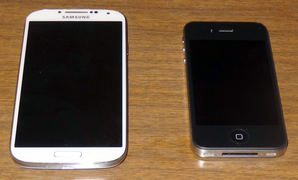 Galaxy iPhone size comparison