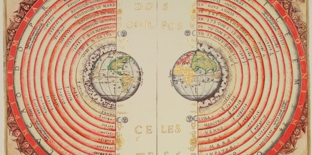 Ptolemy's geocentric solar system.