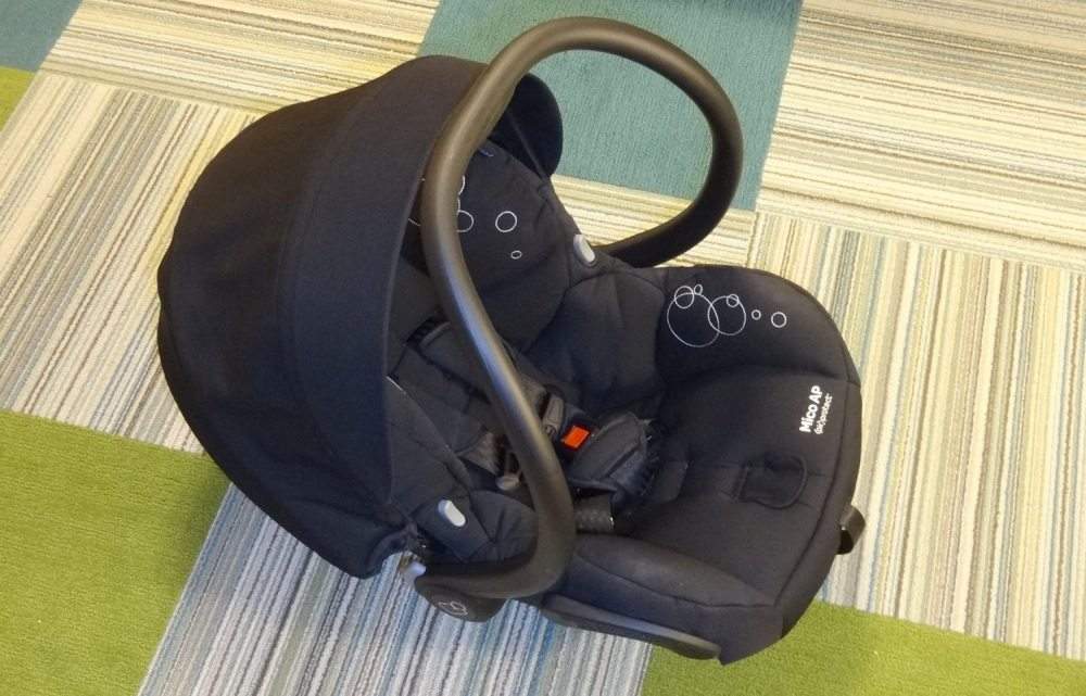 The Maxi-Cosi Mico AP infant seat.
