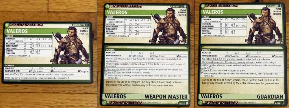 Valeros roles