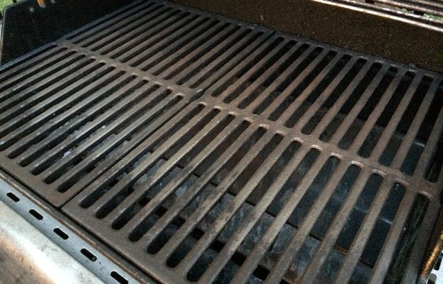 bare ceramic coated steel grate