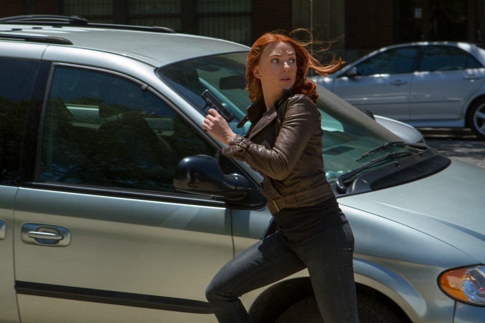 Johansson as Black Widow
