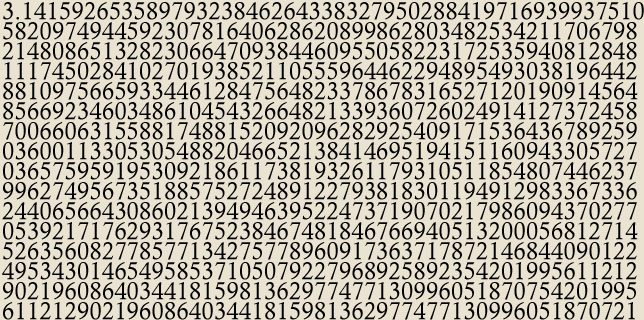 An indecent number of digits of pi
