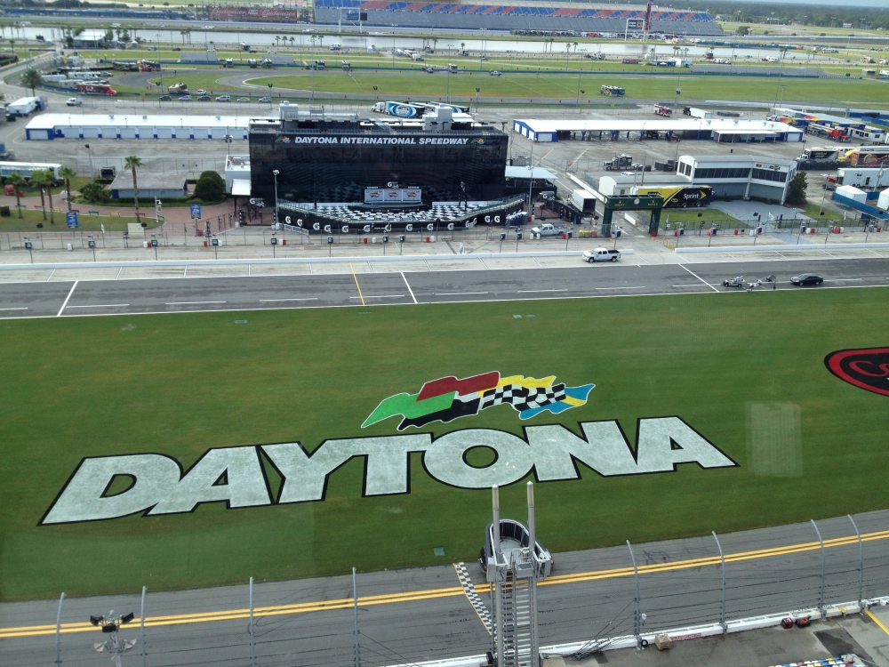 The view from the current luxury boxes at Daytona International Speedway, photo by Corrina Lawson