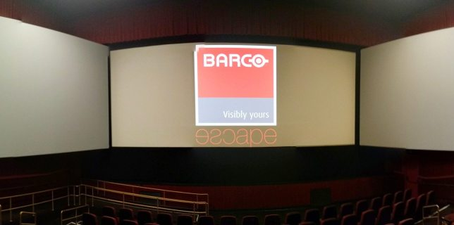 A panoramic photo captured by my phone before the movie started.