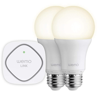 The WeMo LED Lighting Starter Set. Image: Belkin