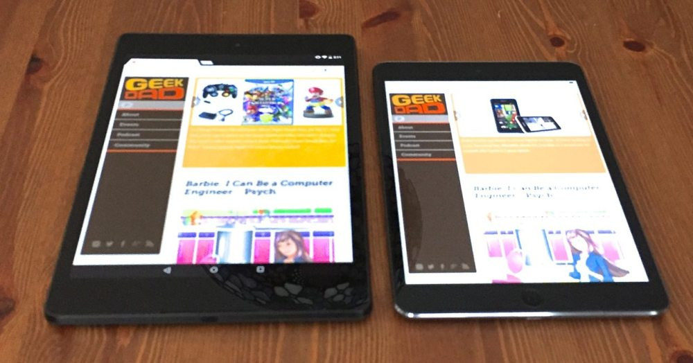 The Nexus 9 compared to iPad Mini 2
