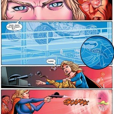 And she solves problems with more than just her fists. Copyright: DC Comics.