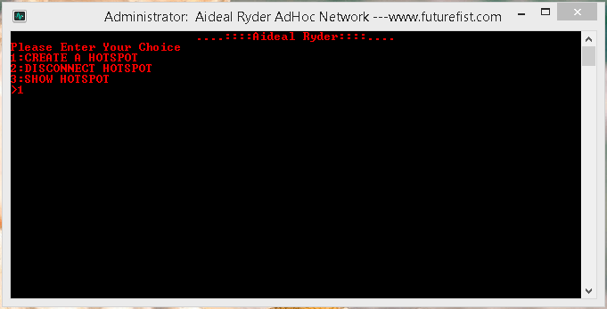 Create Hotspot Adhoc Network Windows 8.1 2
