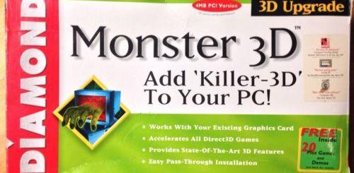 Monster3D card by Diamond Multimedia - 1997