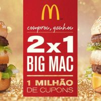 Compre um Big Mac e leve outro grátis nesta promoção do McDonald's. Retire seu cupom!