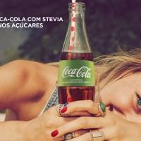 Coca-Cola lança nova versão com Stevia e 50% menos açúcares