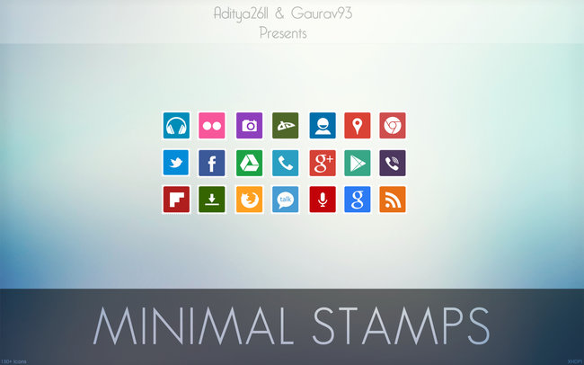 minimal stamps android icon pack