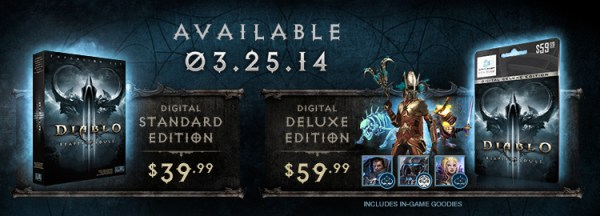 Release Date and Pricing for Reaper of Souls