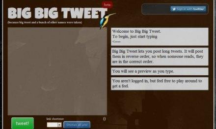 Big Big Tweet, envía tweets largos de más de 140 carácteres