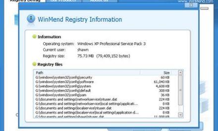 WinMend Registry Defrag, mejora la performance de Windows
