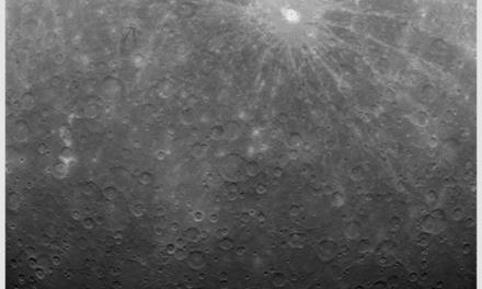 NASA muestra la primer fotografïa que han tomado del planeta Mercurio