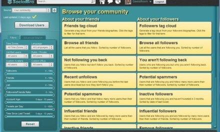 SocialBro, la aplicación completa para gestionar tus contactos de Twitter [Vídeo]