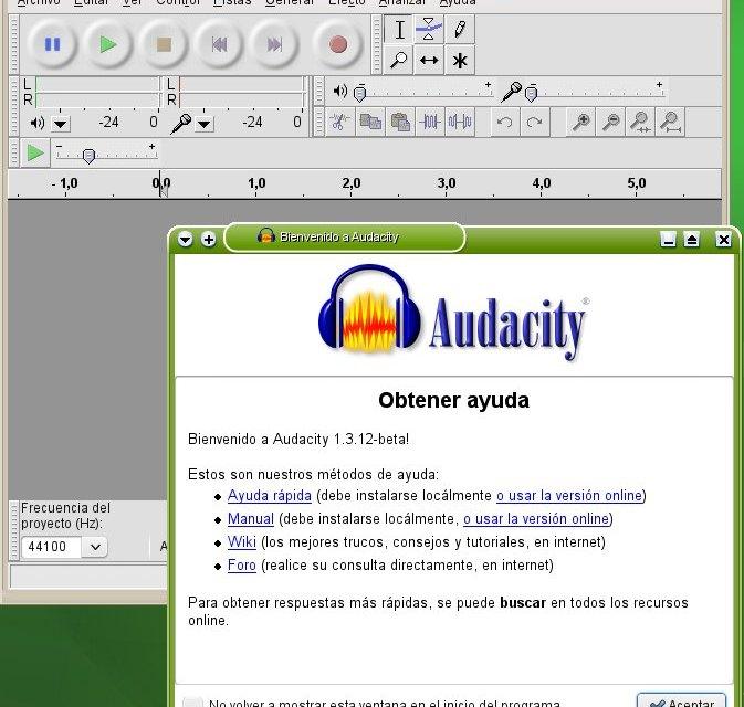 Audacity edita tu audio en linux