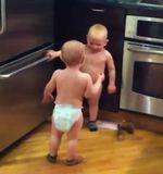 El vídeo viral de esta semana tiene como protagonistas a dos bebés