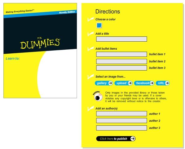 Cookbook Cover Generator ~ Generador oficial de tapas del libro para dummies geek s