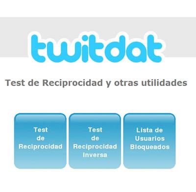 Twitdat: Test de Reciprocidad de Twitter