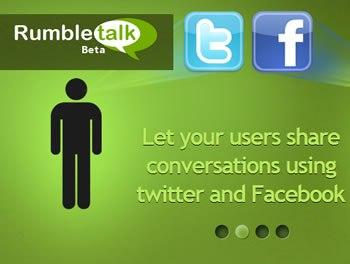 RumbleTalk, para insertar chat en tu Blog o Página de Facebook