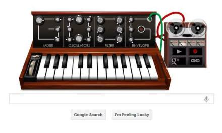Google Doodle de hoy: sintetizador analógico en honor al Dr. Robert Moog