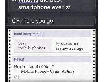¿Qué responde Siri si le preguntas cual es el mejor smartphone de la historia?