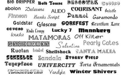 80 fuentes comerciales gratis para Mac y Windows