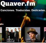 Con Quaver puedes dedicar letras de canciones traducidas a través de Facebook y Twitter