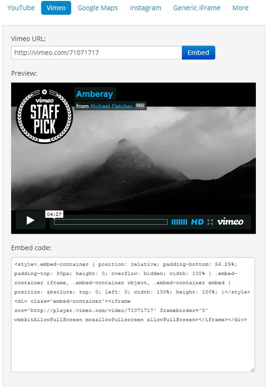 embed-responsively