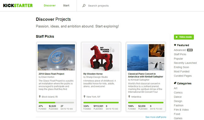 Discover Projects — Kickstarter
