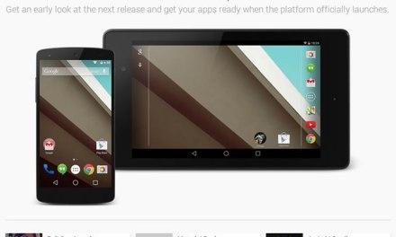 Enlace para probar y descargar Android L Developer Preview