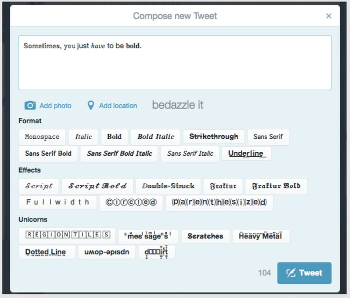 bedazzle-twitter-extension-chrome
