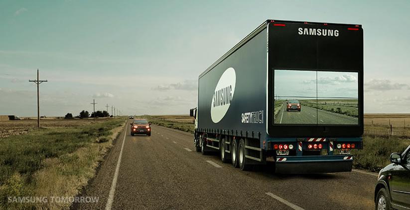 Samsung prueba en Argentina un camión que puede revolucionar la seguridad vial