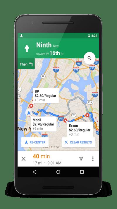 google-maps-gasoline-price
