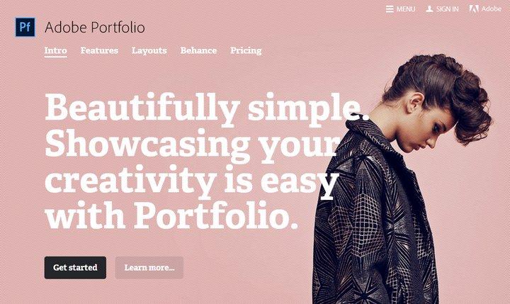 Adobe lanza Portfolio, servicio para crear y alojar un sitio web para creativos