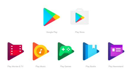 Google actualiza sus iconos de Google Play con un diseño plano y colores más fuertes