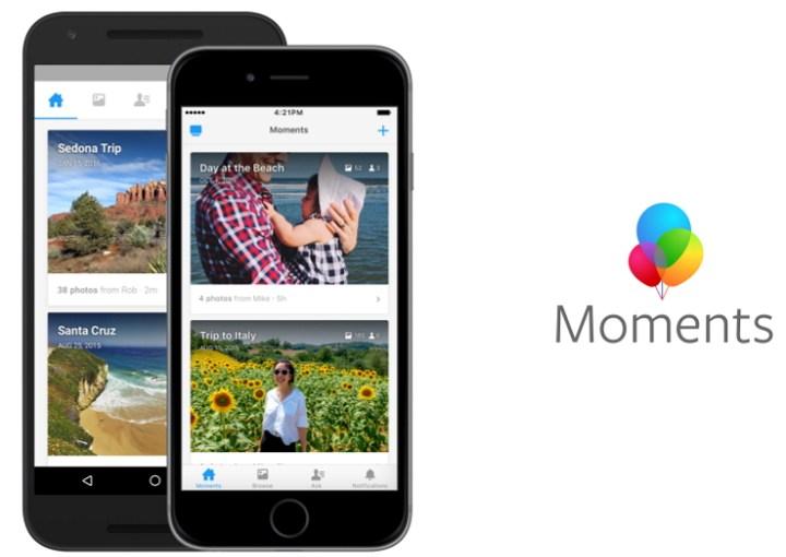 Facebook Moments ahora en Europa y Canadá con algunos cambios