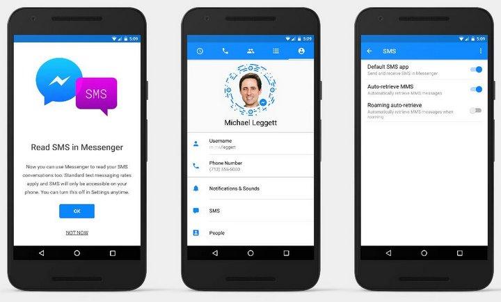 Facebook Messenger (Android) ya puede enviar y recibir SMS