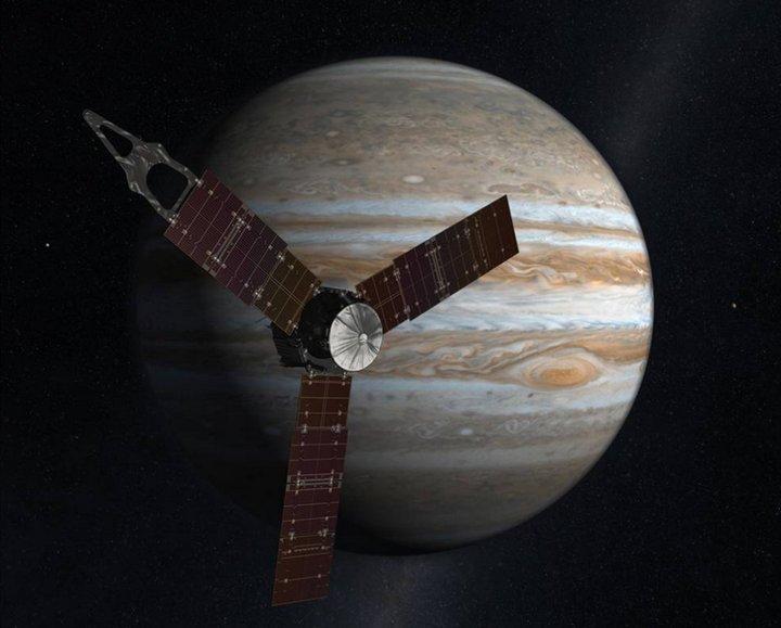 concepto artistico juno jupiter NASA