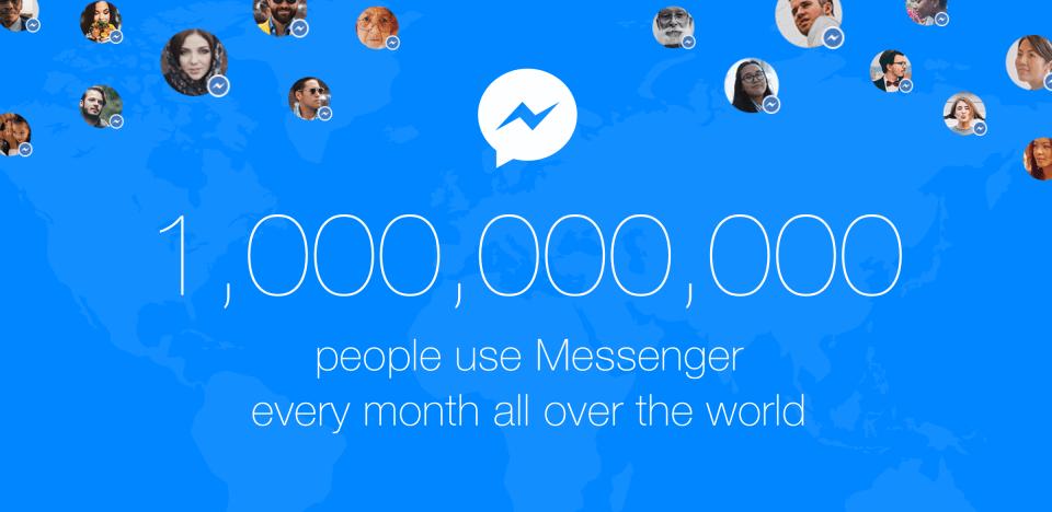 Facebook Messenger llega a 1.000 millones de usuarios activos al mes